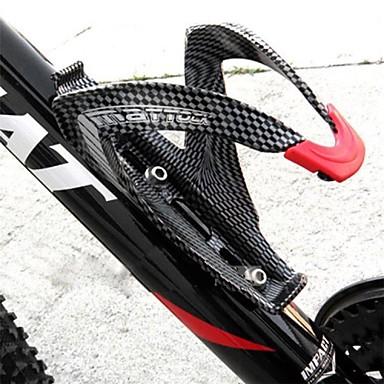 hesapli Bisiklet Aksesuarları-Bisiklet Su Şişe Kafesi Karbon fiber Hafif Uyumluluk Bisiklet Yol Bisikleti Dağ Bisikleti Karbon fiber Tam Karbon Siyah