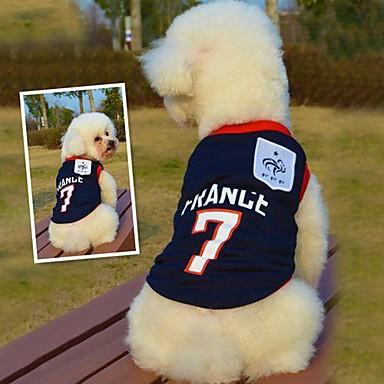Katt / Hund T-shirt / Tröja Hundkläder Blå Cotton Kostym För husdjur Sommar Cosplay / Bröllop