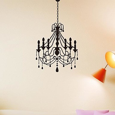 wall stickers wall decals, european style a chandelier pvc wall