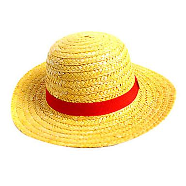 Sombrero   Gorra Inspirado por One Piece Monkey D. Luffy Animé Accesorios  de Cosplay Tapa   Sombrero Cuerda de paja Hombre Disfraces de Halloween  2334119 ... 7a45f28d040