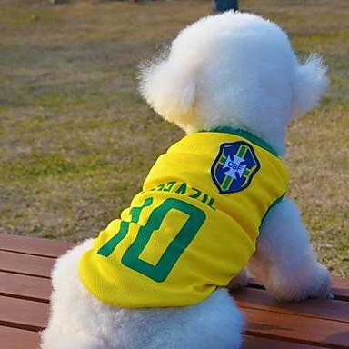 Katt / Hund T-shirt / Tröja Hundkläder Gul Cotton Kostym För husdjur Sommar Cosplay / Bröllop