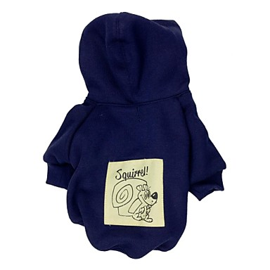 Katt Hund Huvtröjor Fleece Hoodie Vinter Hundkläder Mörkblå Kostym Terylen XS S M L