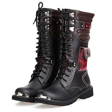 pánské boty vojenské boty na podpatku ploché syntetické mid-lýtkové boty  2440069 2019 –  49.99 5f2874a502