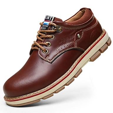 65ede050c15 zapatos de los hombres punta redonda botas de cuero de tacón plano más  colores disponibles 2396577 2019 –  49.99
