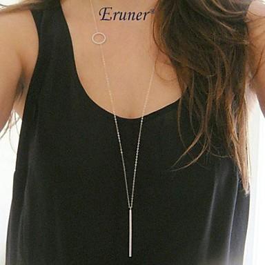 levne Dámské šperky-Dámské Náhrdelníky s přívěšky dlouhý náhrdelník Bar Karma náhrdelník dámy Jednoduchý Bokem Small Slitina Stříbrná Náhrdelníky Šperky Pro Párty Denní Ležérní Sport
