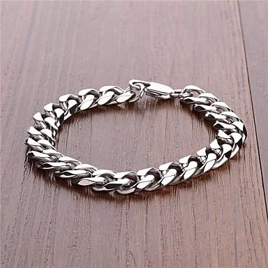 levne Pánské šperky-pánská móda jednoduchý titan ocel řetěz náramek
