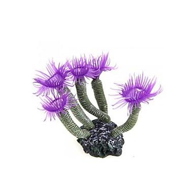 lila akvarium akvarium silikon artificiellt havet växt korall blomma prydnad
