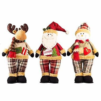utsökta handgjorda jul santa snowman renar stående docka julklapp