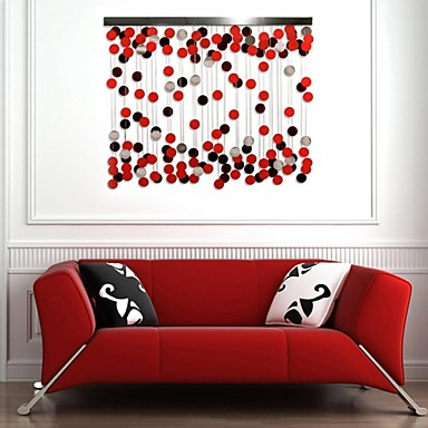 E-HOME® Metal Wall Art Wall Decor, The Red Circle ...