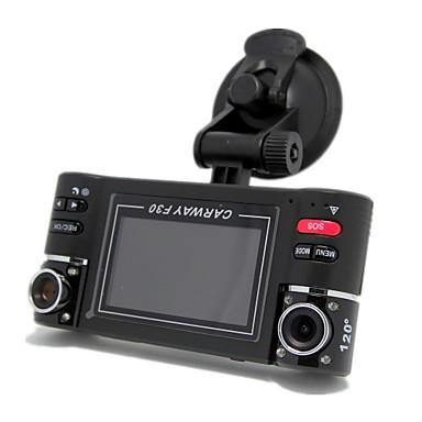 billige Bil-DVR-F30 1280 x 480 Bil DVR 120 grader 90 grader 5 MP CMOS 2.7inch LCD Dash Cam med G-Sensor Night Vision 8 infrarøde LED Bilopptaker