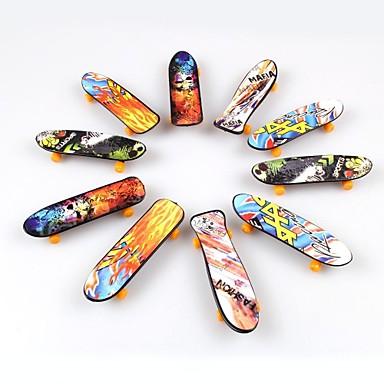 10pieces / lot leksaker för barn finger skateboard (enda ansikte tryckt)