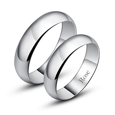 levne Párové šperky-Dámské Pro páry Band Ring Prsten Stříbrná Módní Denní Šperky