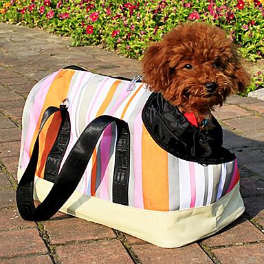 preiswerte Hunde - Beförderung-tragbare Streifen Haustier Handtasche mit vielen Taschen für Hunde und Katzen