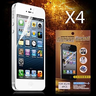 preiswerte Bis zu 0,99 $-Displayschutzfolie für Apple iPhone 6s / iPhone 6 4 Stücke Vorderer Bildschirmschutz High Definition (HD)