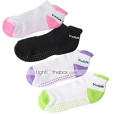Yoga Socks Andningsfunktion Bärbar Anti-Halk Svettavvisande Bekväm Löpning Fitness Gym träning Träning sporter Svart Purpur Grön