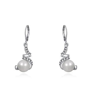 μόδα γυναικών gyrate μαργαριτάρι σκουλαρίκι κρύσταλλο διαμάντι ασημένια  σταγόνα κράμα (1 ζεύγος) 2411899 2019 –  10.99 c4890f132bc