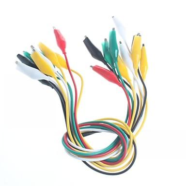 preiswerte Elektrische Instrumente-Doppelbandanlage Krokodilklemmen Testlinie Wartungsverbindung Leitungslänge 50cm (10 Stück)