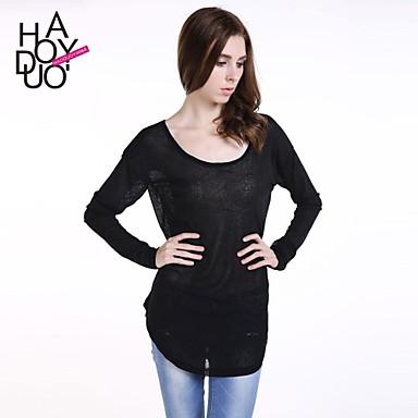 1b3f48c7775b haoduoyi® γυναικών συμμετρική κάτω καμπύλη καταπιεί την ουρά στα μέσα του  μήκους μακρύ μανίκι μπλούζα 2466648 2019 –  11.90