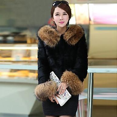 Piel Europeos Lujo más Calor Mujer Nai Abrigos Baratos si De 8xw1Zq4q