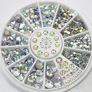 300 pcs Nail Smycken / Glitter & Poudre / Dekorationssatser Bröllop / Mode Dagligen / Akrylfiber