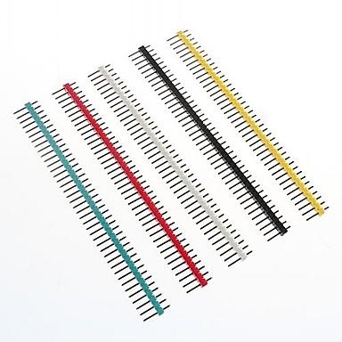 preiswerte 3D-Drucker Teile & Zubehör-Multicolor-40-Pin 2,54 mm Stiftleisten (10 Stück)