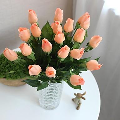 12szt Róż Prawdziwe Dotykowe Sztuczne Kwiaty ślub Bukiety