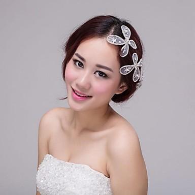 nevěsta svatební šaty doplňky šperky korean krásné hedvábné příze okraj  klip vlásenka čelenka motýl vlasové doplňky 2400064 2018 –  24.99 d349ce5df9
