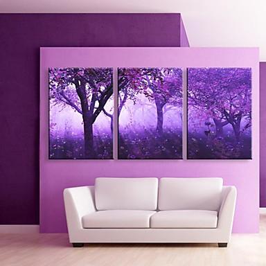 LED Canvas Art Landscape Fantasy Three Panels Print Wall ...