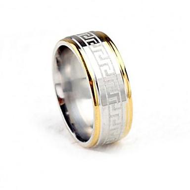 voordelige Herensieraden-Heren Bandring Goud / Zilver Titanium Staal Modieus Bruiloft Feest Sieraden Tweekleurig