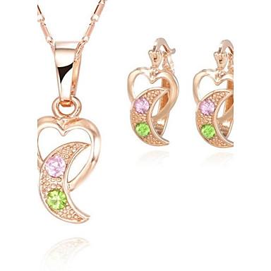 Smyckes set (Grön/Rosa) - i Legering - av Damers/Dam