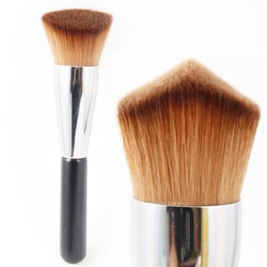 Professionell Makeupborstar Foundationborste Resan blandning Premium felfri polering stippling Concealer Syntetiskt Hår / Artificiella Fiber-borstar för Kaki Flytande Puder Foundationborste