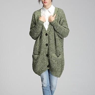 női hosszú gyapjú kevert kötött nagy zseb kardigán pulóver kabát 2471037  2019 –  87.49 3d941ad468