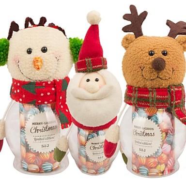 hantverk jultomten snowman godisskål julklapp (1 st)