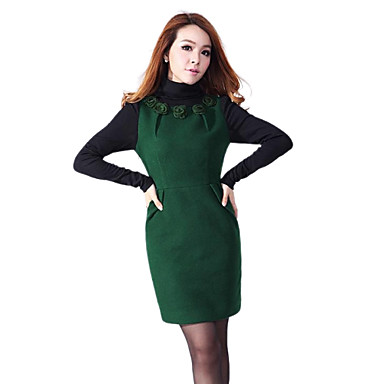 9a8d64e8509c lungo inverno manica delle donne osa collo alto stampate elegante mini abito  del 1797791 2019 a  18.99