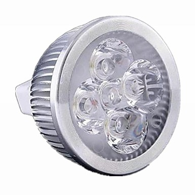 brelong 1 st 5w mr16 dimbar ledd ljus kopp dc12v vitt ljus / varmt vitt ljus