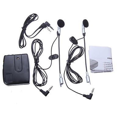 hjälm till hjälm intercom ställa 2 headset mp3-ingång