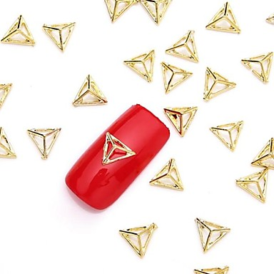 50pcs 3d gold nail art alloy slice metallic golden stud glittery rivet nail jewelery nail design