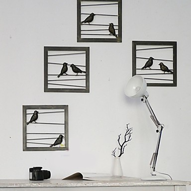 E HOME® Metal Wall Art Wall Decor, Black Birds Wall Decor Set Of 4 2426123  2017 U2013 $99.99 Part 70