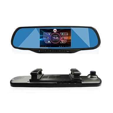 "voordelige Automatisch Electronica-gt 5,0 ""touch android gps navigatie bluetooth wifi 1080p dual lens achteruitkijkspiegel dash auto dvr"