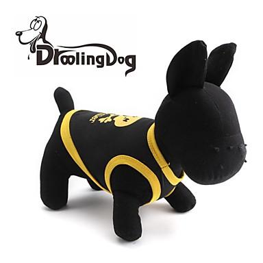 Katt Hund T-shirt Hundkläder Andningsfunktion Svart Svart / Gul Gul Kostym Cotton Hjärta Dödskalle XS S M L