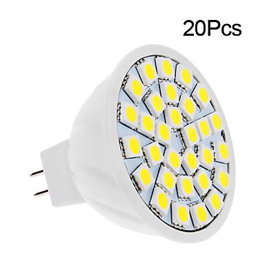 20pcs 2 W LED-spotlights 150-200 lm 30 LED-pärlor SMD 5050 Varmvit Kallvit 12 V