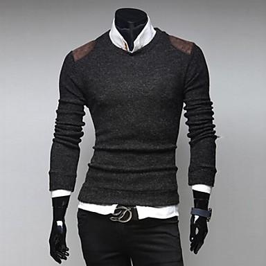 928f1d4821 Férfi szilárd bőr küzdelemben divat vékony pulóver 2684712 2019 – $17.99