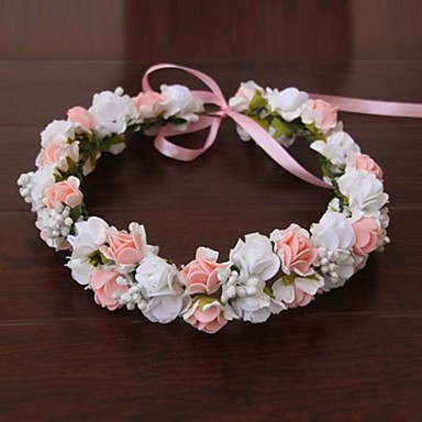 povoljno Party pokrivala za glavu-Guma / Saten Cvijeće / Šeširi / vijence s Cvjetni print 1pc Vjenčanje / Special Occasion / Vanjski Glava