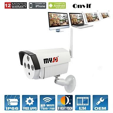 1.0 MP Utomhus with IR-filter Dag Natt Dag Natt Rörelsedetektor Dubbel Stream Fjärråtkomst Vattentät Wi-Fi-Skyddad Setup) IP Camera