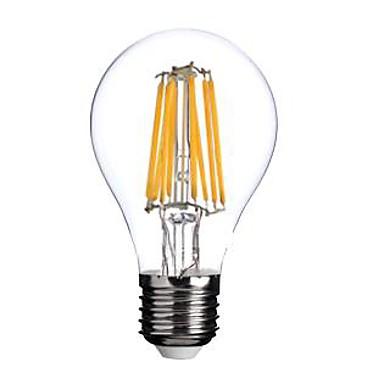1st LED-glödlampor 800 lm E26 / E27 A60(A19) 8 LED-pärlor COB Varmvit 220-240 V / RoHs