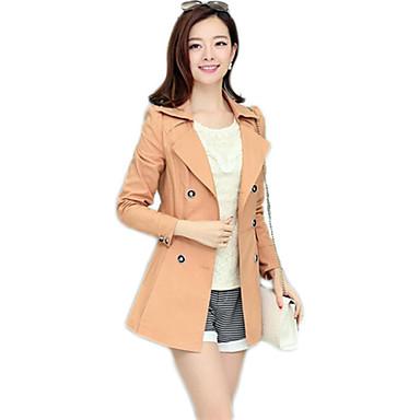 estilo midi mujer abrigo de patrón coreano 2401513 la 2018 FUqrF