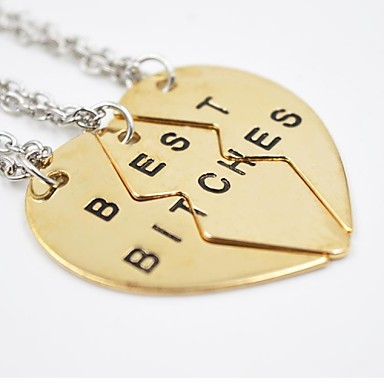 cheap Pendant Necklaces-Men's Women's Pendant Necklace Monogram Love life Tree Best Friends Friendship Relationship European Fashion Initial Sister Alloy Golden Silver Necklace Jewelry For Daily Casual Graduation