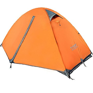cheap Tents, Canopies & Shelters-FLYTOP 1 person Tent Outdoor Waterproof Windproof Rain Waterproof Double Layered Poled Dome Camping Tent >3000 mm for Fishing Hiking Camping Oxford 180*210*100 cm
