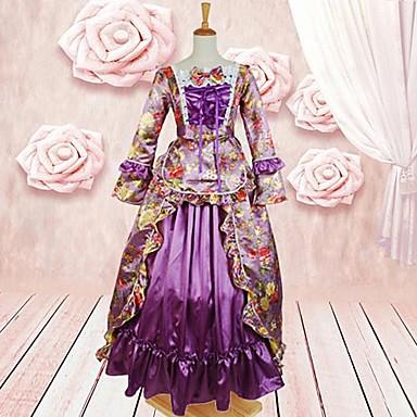 Klänningar Gotisk Lolita lolita tillbehör Klänning Cotton Halloweenkostymer / Lång längd
