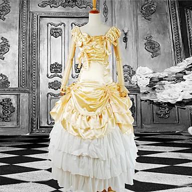 Klänningar Klassisk / Traditionell Lolita lolita tillbehör Klänning Satin Cotton Halloweenkostymer / Lång längd